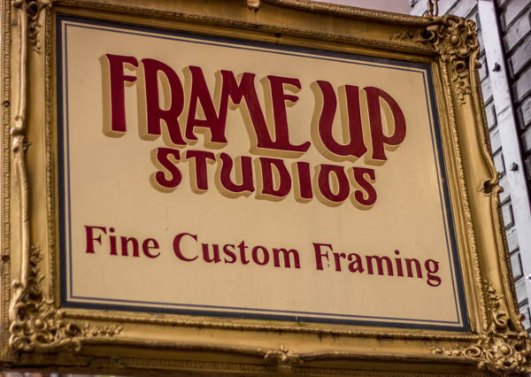 frame shop sign