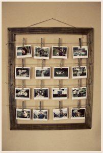 hanging polaroid display